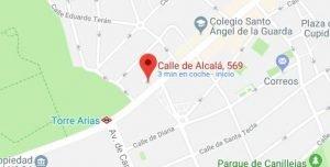 Dirección academia de Hugo en Madrid calle Alcala